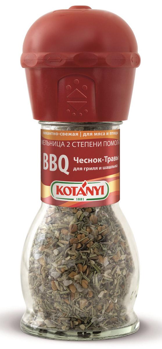 Kotanyi BBQ чеснок-травы для гриля и шашлыка, 40 г