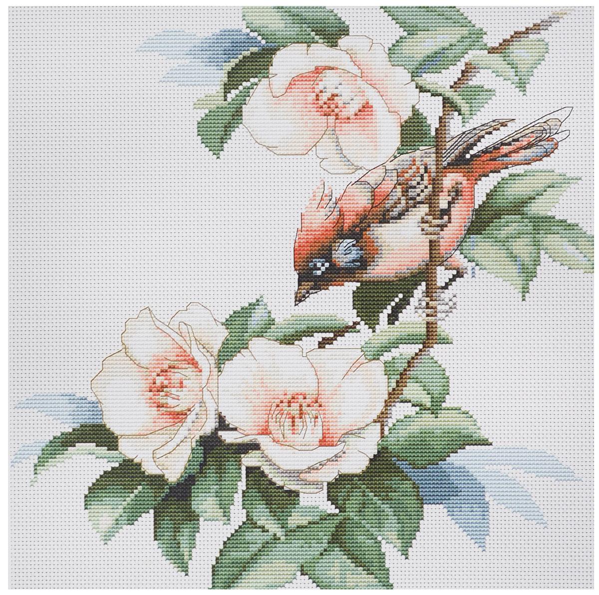 Набор для вышивания крестом Luca-S Птичка в цветах, 22 х 23 смB299Набор для вышивания крестом Luca-S Птичка в цветах поможет создать красивую вышитую картину. Рисунок-вышивка, выполненный на канве, выглядит стильно и модно. Вышивание отвлечет вас от повседневных забот и превратится в увлекательное занятие! Работа, сделанная своими руками, не только украсит интерьер дома, придав ему уют и оригинальность, но и будет отличным подарком для друзей и близких! Набор содержит все необходимые материалы для вышивки на канве в технике счетный крест. В набор входит: - канва Aida Zweigart №18 (белого цвета), - мулине Anchor - 100% мерсеризованный хлопок (27 цветов), - черно-белая символьная схема, - инструкция на русском языке, - игла. Размер готовой работы: 22 х 23 см. Размер канвы: 31,5 х 32,5 см.