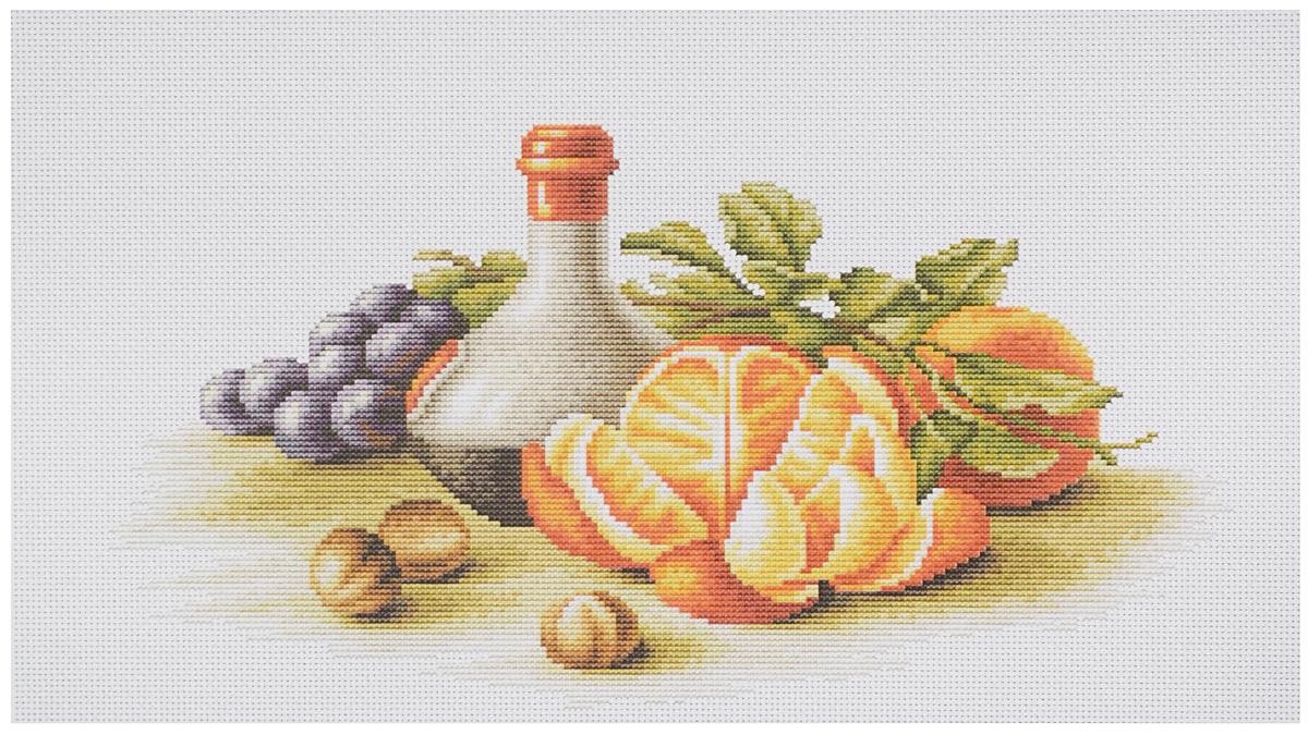 Набор для вышивания крестом Luca-S Натюрморт с апельсинами, 35,5 х 19 смB2250Набор для вышивания крестом Luca-S Натюрморт с апельсинами поможет создать красивую вышитую картину. Рисунок-вышивка, выполненный на канве, выглядит стильно и модно. Вышивание отвлечет вас от повседневных забот и превратится в увлекательное занятие! Работа, сделанная своими руками, не только украсит интерьер дома, придав ему уют и оригинальность, но и будет отличным подарком для друзей и близких! Набор содержит все необходимые материалы для вышивки на канве в технике счетный крест. В набор входит: - канва Aida Zweigart №14 (белого цвета), - мулине Anchor - 100% мерсеризованный хлопок (40 цветов), - черно-белая символьная схема, - инструкция на русском языке, - игла. Размер готовой работы: 35,5 х 19 см. Размер канвы: 47 х 30,5 см.