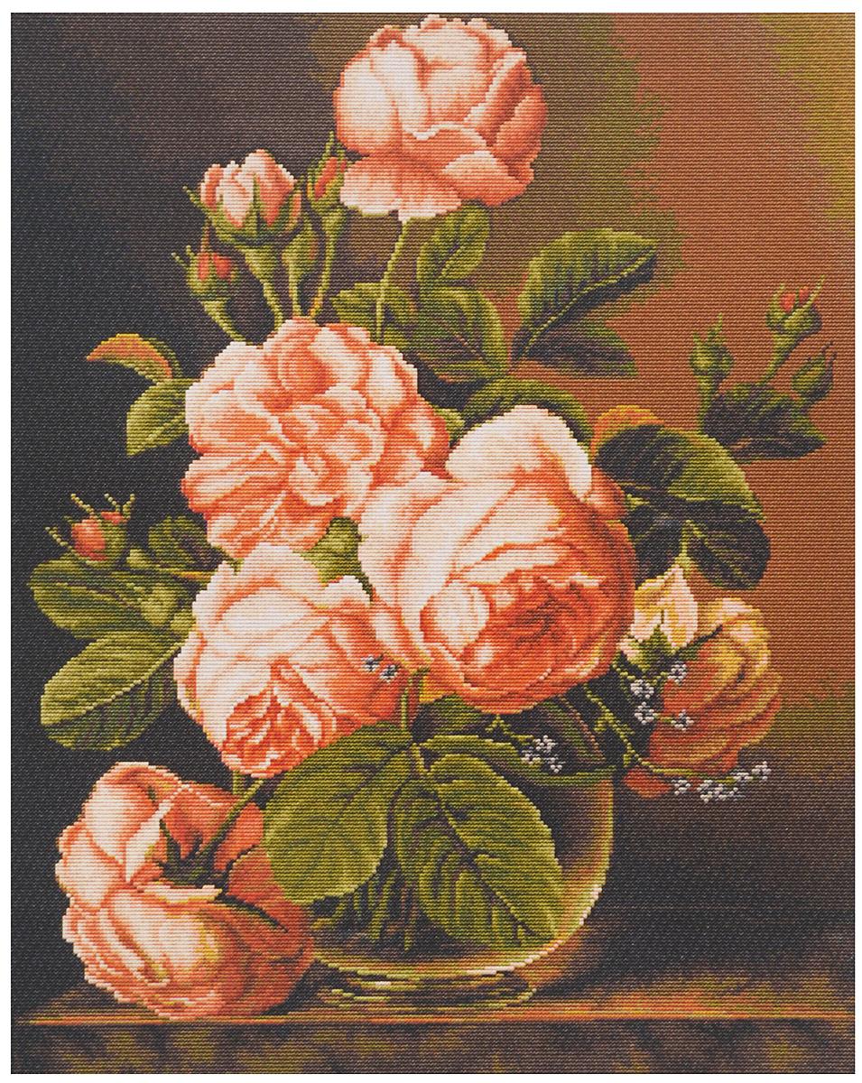 Набор для вышивания крестом Luca-S Ваза с розами, 34 х 43 смB488Набор для вышивания крестом Luca-S Ваза с розами поможет создать красивую вышитую картину. Рисунок-вышивка, выполненный на канве, выглядит стильно и модно. Вышивание отвлечет вас от повседневных забот и превратится в увлекательное занятие! Работа, сделанная своими руками, не только украсит интерьер дома, придав ему уют и оригинальность, но и будет отличным подарком для друзей и близких! Набор содержит все необходимые материалы для вышивки на канве в технике счетный крест. В набор входит: - канва Aida 18 Zweigart (светло-бежевого цвета), - мулине Anchor - 100% мерсеризованный хлопок (40 цветов), - черно-белая символьная схема, - инструкция на русском языке, - игла. Размер готовой работы: 34 х 43 см. Размер канвы: 45 х 54 см.