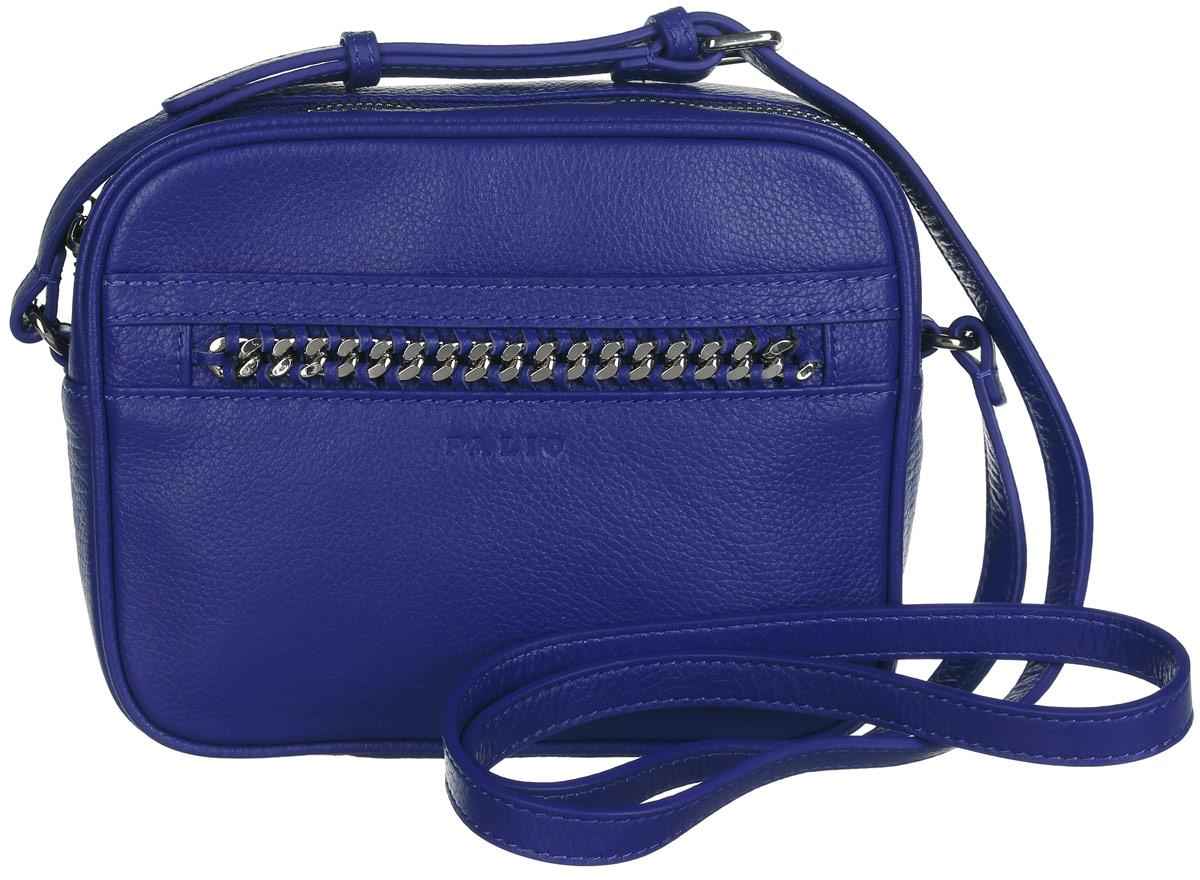 Сумка женская Palio, цвет: синий. 14368A-88614368A-886Стильная женская сумка Palio выполнена из натуральной кожи зернистой фактуры, оформлена декоративным плетением и символикой бренда. Изделие состоит из одного отделения, закрывающегося на застежку-молнию. Отделение содержит один накладной кармашек для мелочей и один врезной карман на молнии. Снаружи, на лицевой стороне, расположен прорезной карман на магнитной кнопке. На задней стенке предусмотрен дополнительный врезной карман на молнии. Сумка оснащена несъемным плечевым ремнем регулируемой длины. Прилагается фирменный текстильный чехол для хранения изделия. Оригинальный аксессуар позволит вам завершить образ и быть неотразимой.