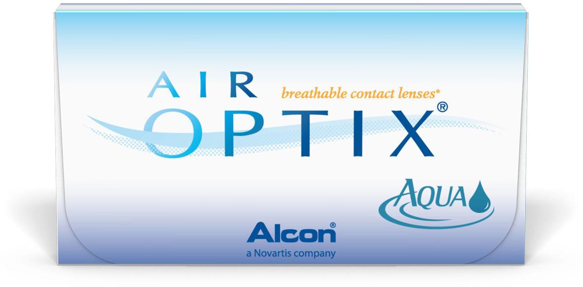 Аlcon контактные линзы Air Optix Aqua 6шт / +3.75 / 14.20 / 8.6/31747364Мягкие контактные линзы