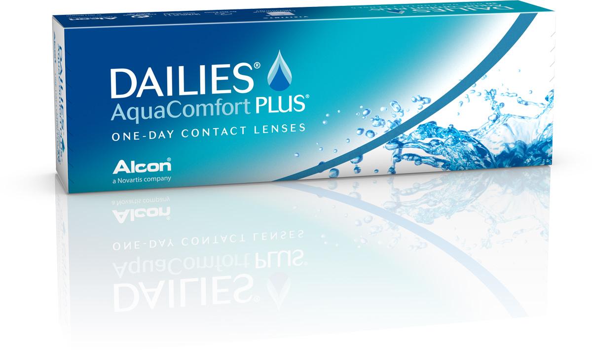 Alcon-CIBA Vision контактные линзы Dailies AquaComfort Plus (30шт / 8.7 / 14.0 / -4.00)38453Dailies AquaComfort Plus - это одни из самых популярных однодневных линз производства компании Ciba Vision. Эти линзы пользуются огромной популярностью во всем мире и являются на сегодняшний день самыми безопасными контактными линзами. Изготавливаются линзы из современного, 100% безопасного материала нелфилкон А. Особенность этого материала в том, что он легко пропускает воздух и хорошо сохраняет влагу. Однодневные контактные линзы Dailies AquaComfort Plus не нуждаются в дополнительном уходе и затратах, каждый день вы надеваете свежую пару линз. Дизайн линзы биосовместимый, что гарантирует безупречный комфорт. Самое главное достоинство Dailies AquaComfort Plus - это их уникальная система увлажнения. Благодаря этой разработке линзы увлажняются тремя различными агентами. Первый компонент, ухаживающий за линзами, находится в растворе, он как бы обволакивает линзу, обеспечивая чрезвычайно комфортное надевание. Второй агент выделяется на протяжении всего дня, он...