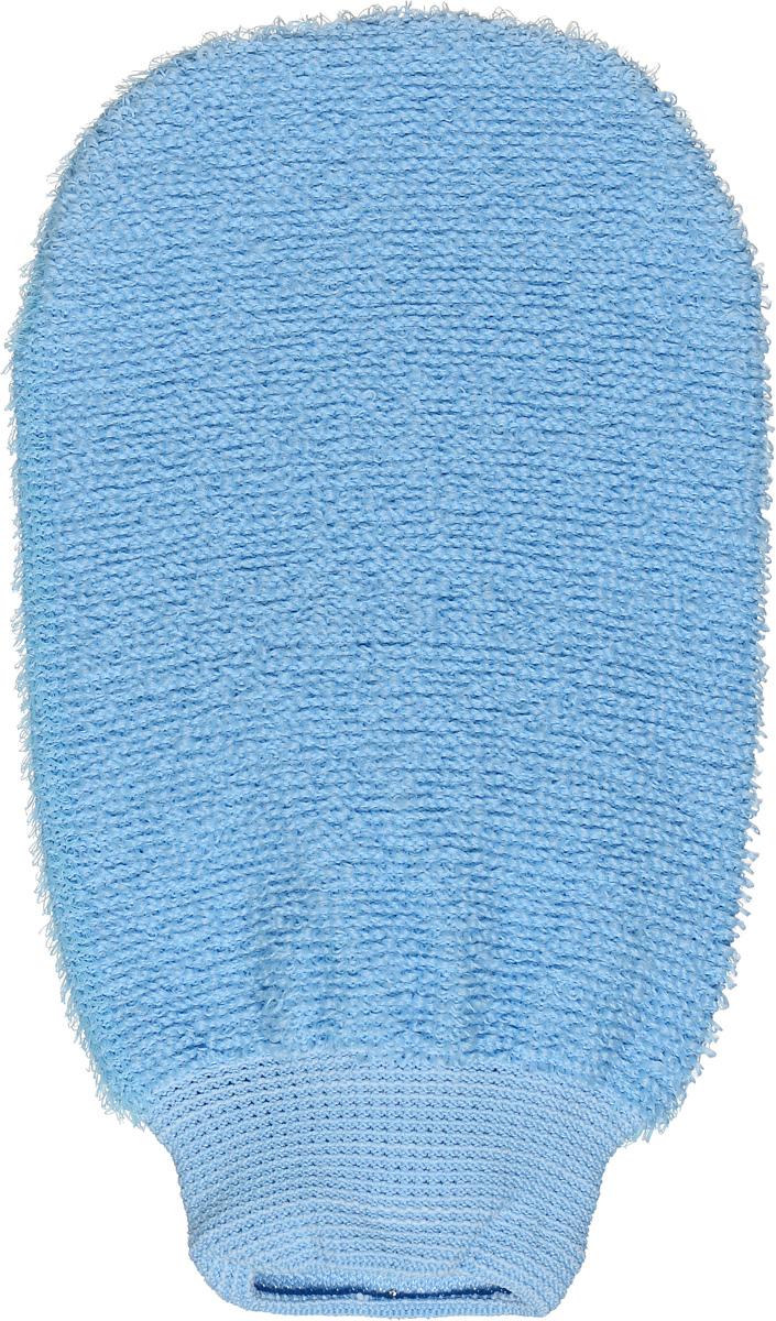 Riffi Мочалка-рукавица, массажная, двухсторонняя, цвет: голубой707_голубойДвухсторонняя мочалка-рукавица Riffi идеально подходит для мытья тела, массажа и пилинга в душе. Жесткую сторону рукавицы используют для тонизирующего массажа кожи. Мягкой стороной хорошо намыливать тело и наносить косметические средства после душа. Интенсивный и пощипывающе свежий массаж тела с применением Riffi усиливает кровообращение, активирует кровоснабжение и улучшает общее самочувствие. Благодаря отшелушивающему эффекту, кожа освобождается от отмерших клеток, становится гладкой, упругой и свежей. Riffi приносит приятное расслабление всему организму. Борется с болями и спазмами в мышцах, а также эффективно предупреждает образование целлюлита. Моет легко и энергично. Быстро сохнет. Гипоаллергенная. Товар сертифицирован.