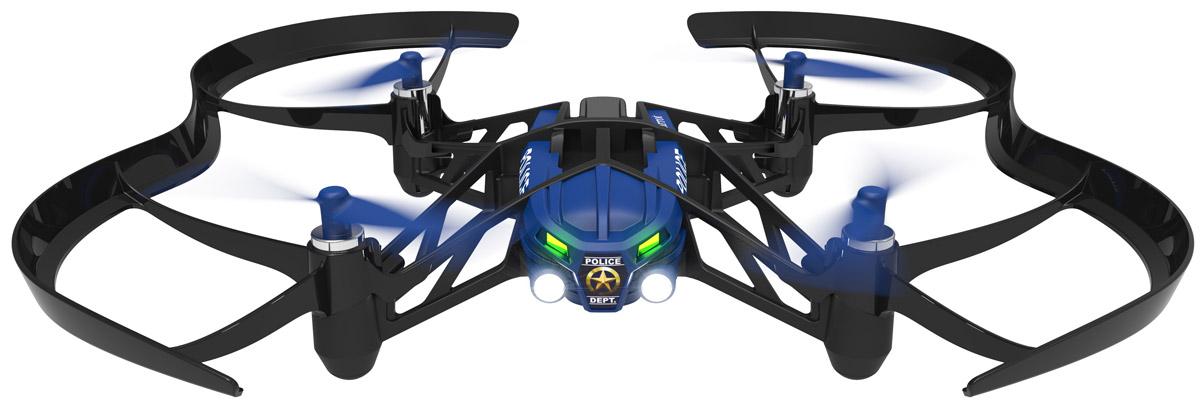 Parrot Квадрокоптер на радиоуправлении Minidrone Airborne SwatPF723107Parrot Minidrone Airborne Swat - летающее радиоуправляемое устройство с четырьмя бесколлекторными двигателями и встроенной камерой. Невероятная акробатика Одно движение руки - и ваш квадрокоптер послушно выполняет повороты на 90 и 180 градусов, крутит мёртвые петли назад и вперёд. Он сконструирован с соблюдением правил безопасности: в случае аварии питание пропеллеров отключится. Создайте своего летающего робота Вы можете изменить внешний вид мини-дрона Airborne по своему вкусу с помощью наклеек, а также добавив груз или фигурки пассажиров. Специальные отделения для небольших предметов позволят подойти к игре творчески. Благодаря проработанной системе стабилизации и автопилоту квадрокоптером Airborne Swat можно легко управлять через сенсорный интерфейс в приложении FreeFlight 3. Встроенная память: 1 ГБ (для записи видео) Разрешение видео: 640х480 Емкость аккумулятора: 550 мАч