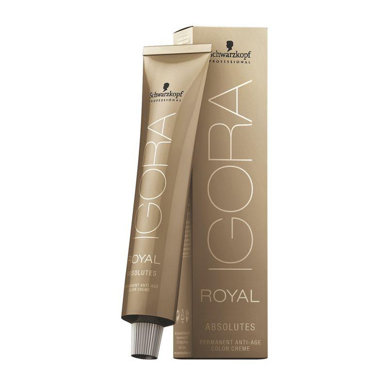 Igora Royal Перманентный краситель для волос Absolutes 4-07 средний коричневый абсолютный медный 60 мл1124440Благородные фешенебельные оттенки коричневого, медного, красного и фиолетового направлений. Цвет: средний коричневый абсолютный медный.