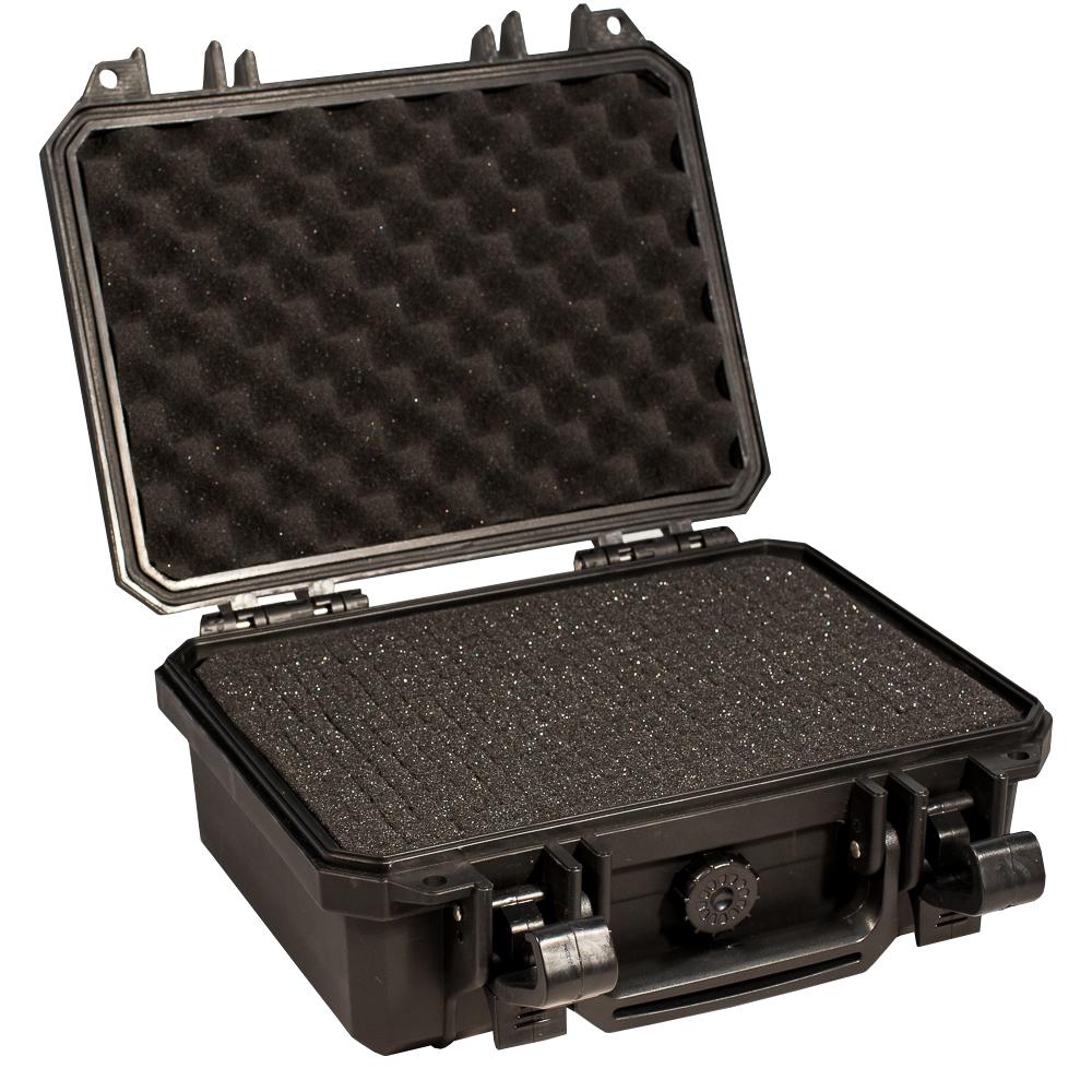 Кейс противоударный PRO-4x4 №1, влагозащищенный, 28 х 23 х 12,4 см, цвет: черныйPRO-BXF-B02823В кейс №1 с адаптивным поропластом прекрасно помещаются фото и видео камеры, небольшое медицинское оборудование и личное оружие. Преперфорированная пена позволяет отлично уложить и сохранить ваши вещи. Защищенные кейсы это надежный и проверенный способ сохранить в целостности дорогостоящее оборудование, требующее бережной транспортировки и гарантированной сохранности.