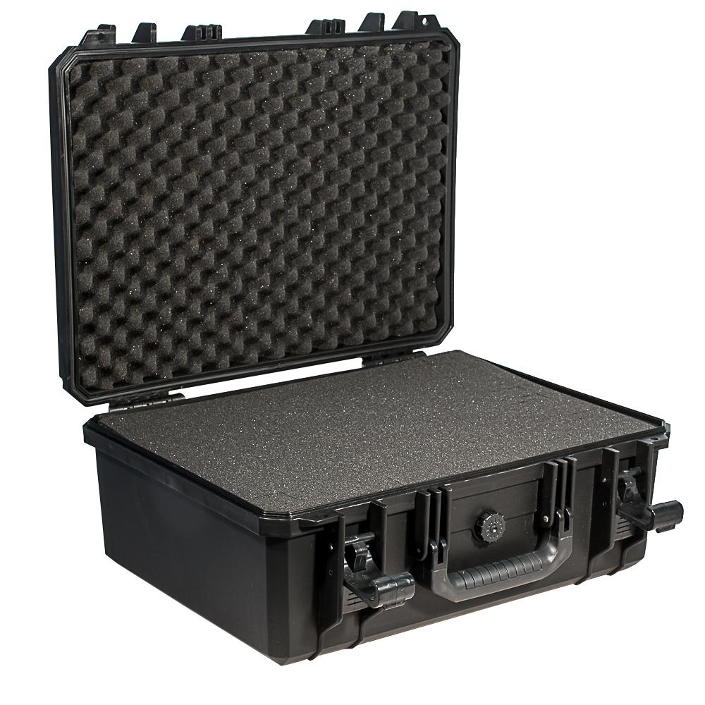 Кейс противоударный PRO-4x4 №4, влагозащищенный, 49 х 39,5 х 21,5 см, цвет: черныйPRO-BXF-B04939Кейс №4 с адаптивным поропластом может использоваться в энергетической отрасли и строительстве для перевозки высокоточных измерительных приборов, для хранения предметов искусства и коллекционирования. Защищенные кейсы - это надежный и проверенный способ сохранить в целостности дорогостоящее оборудование, требующее бережной транспортировки и гарантированной сохранности.