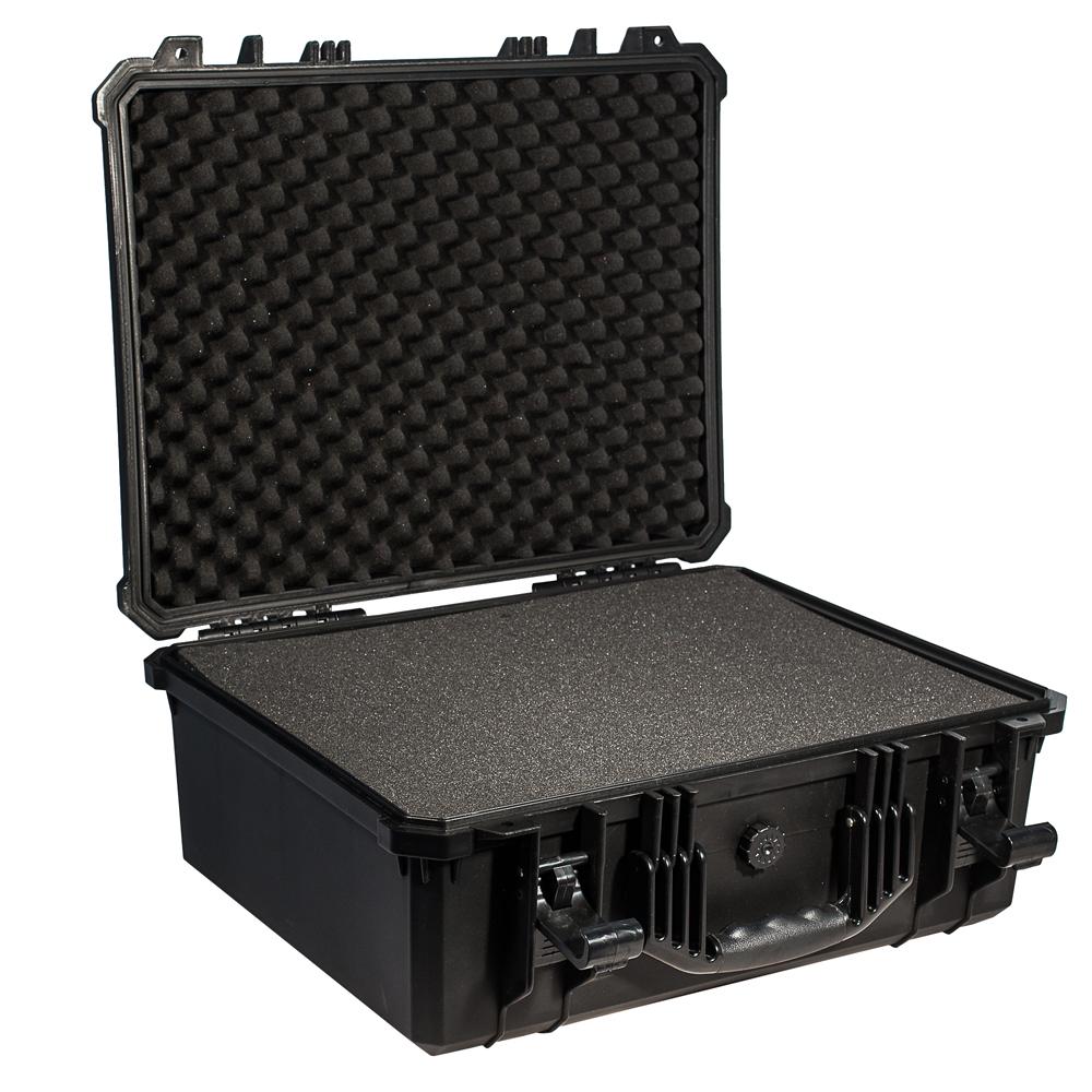 Кейс противоударный PRO-4x4 №5, влагозащищенный, 50,8 х 39,4 х 20,5 см, цвет: черныйPRO-BXF-B05039Коллекционерам и археологам. Медицинским работникам и энергетикам. Для Ваших приборов, диагностического оборудования, точных измерительных приборов, коллекций ножей или часов, больших объективов и небольших экранов, экспонатов для выставок и радиомоделей- все это кейс №5 Защищенные кейсы - это надежный и проверенный способ сохранить в целостности дорогостоящее оборудование, требующее бережной транспортировки и гарантированной сохранности.