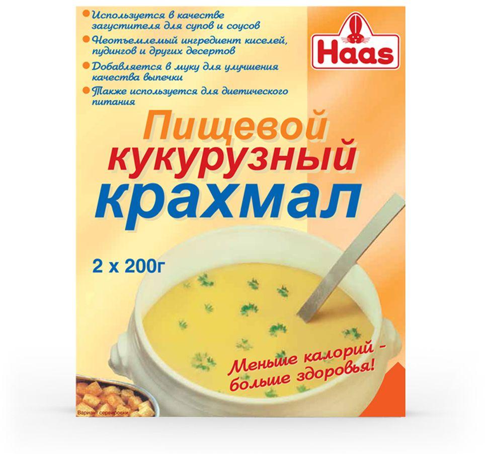 Кукурузный крахмал Хаас 400 г прекрасно сгущает соусы и супы. От кукурузного крахмала блюда, с одной стороны, становятся гуще, а с другой – блестящими и почти прозрачными, как многие сладкие десерты и китайские соусы. В отличие от пшеничной муки, кукурузный крахмал не дает мучнистого привкуса. С кукурузным крахмалом пекут хлеб, кексы, маффины, жарят лепёшки. Изделия с добавлением кукурузного крахмала получаются рассыпчатыми, приятного вкуса и цвета.