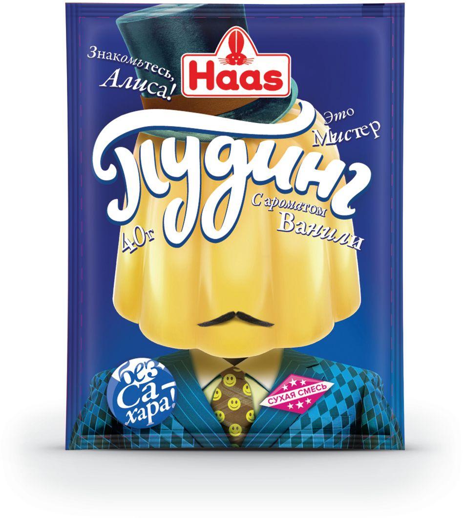 Haas Пудинг ванильный, 40 г