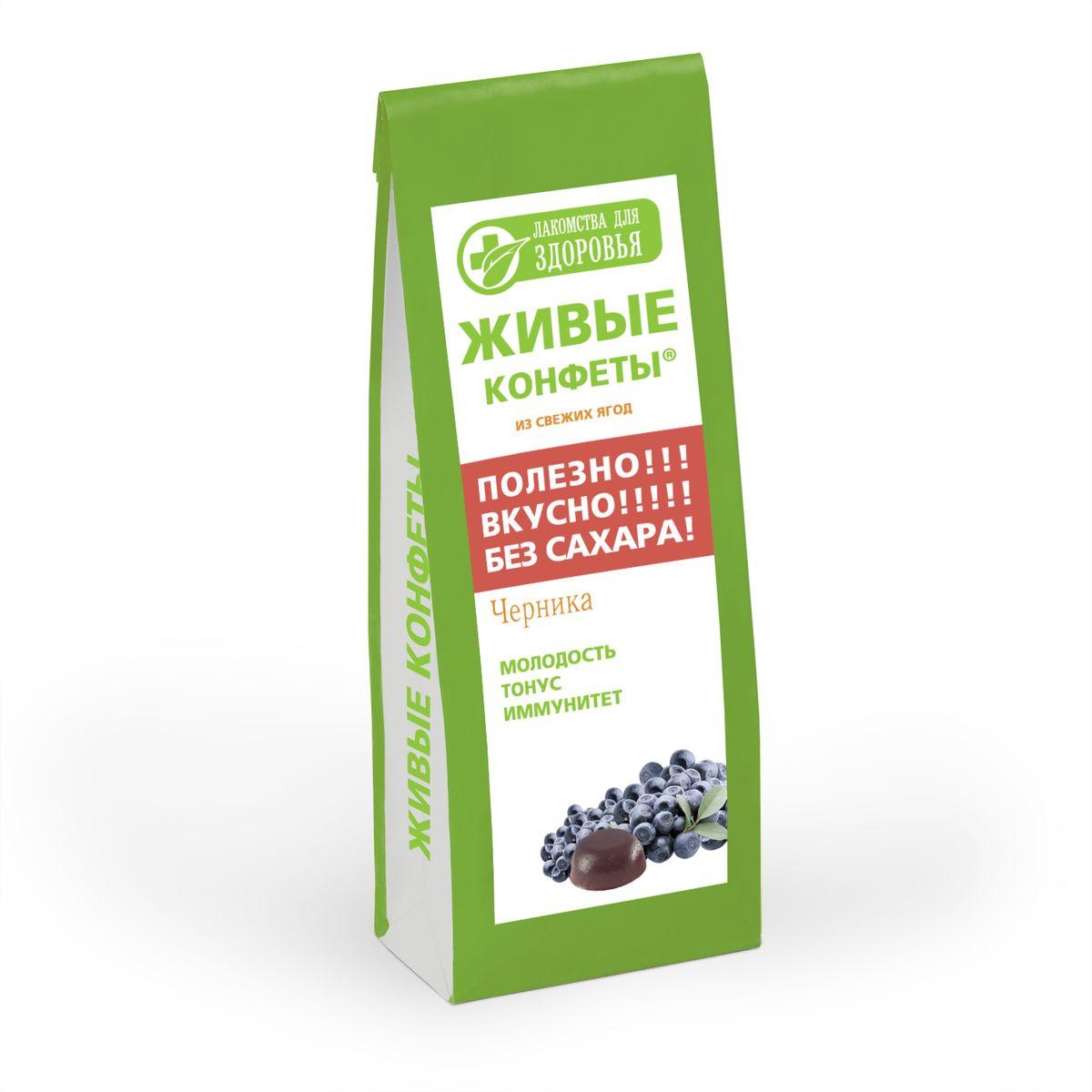 Лакомства для здоровья Мармелад желейный с черникой, 170 г