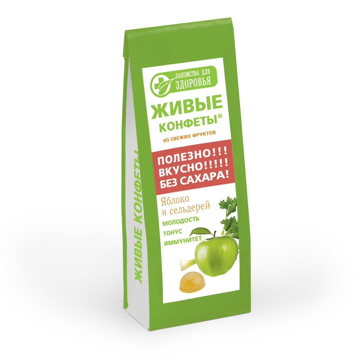 Лакомства для здоровья Мармелад желейный с яблоком и сельдереем, 170 г