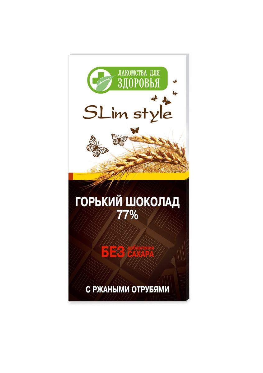 Лакомства для здоровья Шоколад горький формованный с отрубями, 60 г