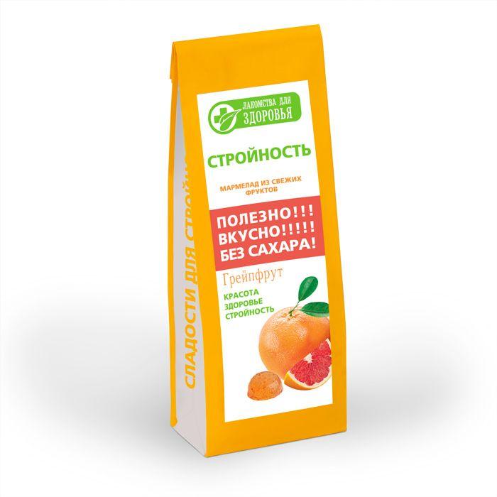 Лакомства для здоровья Мармелад желейный с грейпфрутом, 170 г