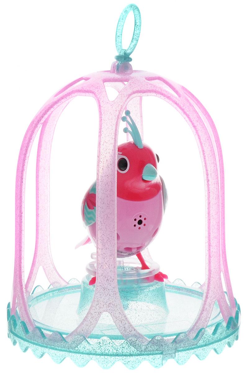 DigiBirds Интерактивная игрушка Птичка Carousal в клетке цвет розовый зеленый88295S_розовый, зеленыйПтичка DigiBirds Carousal - это забавная интерактивная игрушка, которая займет малыша на длительное время. Эта игрушка умеет выполнять разные действия: щебетать, петь песенки, при этом двигая головой и клювом. Если подуть на грудку птички, она начнет щебетать. Если подуть в свисток, птичка станет исполнять известную песенку. Игрушка воспроизводит свыше 55 музыкальных свистов. 2 режима работы игрушки: соло и хор. При переключении в режим хора, можно последовательно подсоединять птичек к главной, в результате они будут вместе исполнять песенки вслед за главной птичкой, и щебетать друг с другом. Птичка сидит в изящной клетке. Несколько клеток можно подвесить одну над другой. В комплекте с птичкой также идет свисток с удобным держателем для пальцев. Игрушка развивает музыкальный слух, любовь к музыке и животным. Для работы игрушки необходимы 3 батарейки напряжением 1,5V типа AG13/LR44 (товар комплектуется демонстрационными).