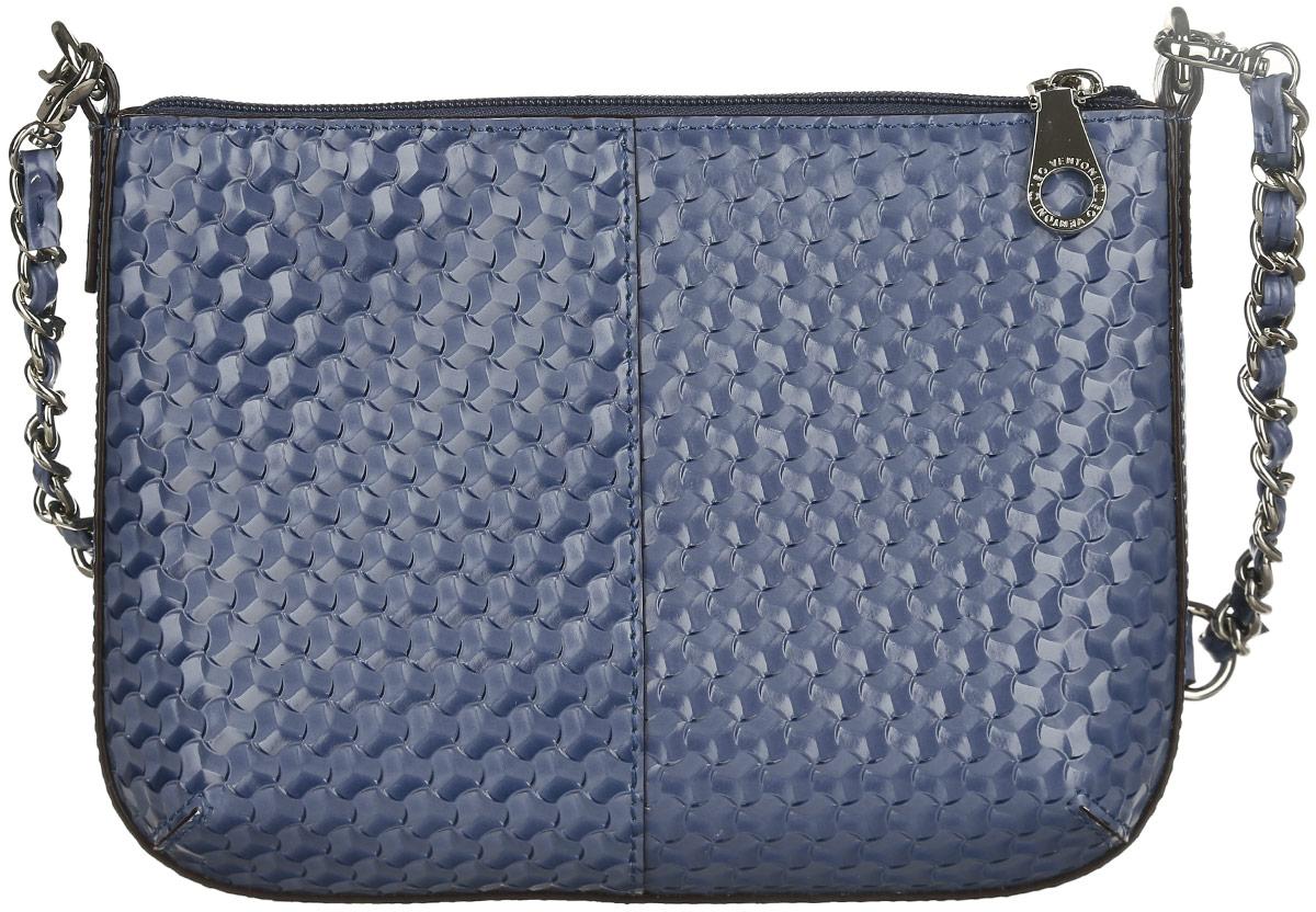 Сумка женская Leo Ventoni, цвет: серо-синий. 2300440523004405-blueСтильная женская сумка Leo Ventoni выполнена из натуральной кожи с оригинальным фактурным тиснением. Изделие содержит одно отделение, которое закрывается на застежку-молнию. Внутри расположены один накладной карман для мелочей и врезной карман на молнии. Снаружи, на задней стороне сумки, расположен врезной карман на застежке-молнии. Сумка оснащена съемной ручкой и съемным плечевым ремнем, который можно регулировать по длине. Оригинальный аксессуар позволит вам завершить образ и быть неотразимой.
