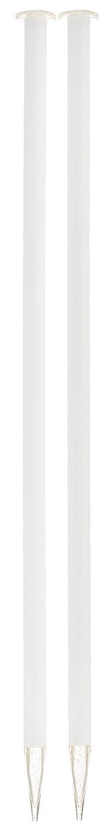Спицы Addi, пластиковые, прямые, цвет: белый, диаметр 10 мм, длина 35 см, 2 шт400-7/10-35Спицы для вязания Addi, изготовленные из высококачественного пластика, обладают прекрасными тактильными качествами. Они прочные, легкие и удобные в использовании. На кончиках в качестве стопперов есть пластиковые круги с нанесенным на них размером изделия. Прямые спицы используются при плоском вязании отдельных деталей, которые впоследствии будут сшиты в цельное изделие. Вы сможете вязать для себя и делать подарки друзьям. Рукоделие всегда считалось изысканным, благородным делом. Работа, сделанная своими руками, долго будет радовать вас и ваших близких.