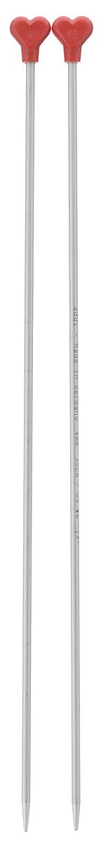 Спицы Addi, металлические, прямые, диаметр 4 мм, длина 35 см, 2 шт200-7/4-35Спицы для вязания Addi, изготовленные из алюминия, обладают прекрасными тактильными качествами и благородным серебристо-матовым цветом. На кончиках в качестве стопперов накладки в виде сердечка, что придает изделию уникальный вид. Прямые спицы используются при плоском вязании отдельных деталей, которые впоследствии будут сшиты в цельное изделие. Вы сможете вязать для себя и делать подарки друзьям. Рукоделие всегда считалось изысканным, благородным делом. Работа, сделанная своими руками, долго будет радовать вас и ваших близких.