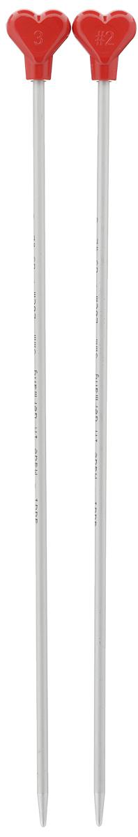 Спицы Addi, металлические, прямые, диаметр 3 мм, длина 20 см, 2 шт200-7/3-20Спицы для вязания Addi, изготовленные из алюминия, обладают прекрасными тактильными качествами и благородным серебристо-матовым цветом. На кончиках в качестве стопперов есть фирменный логотип Addi в виде сердечка, что придает изделию уникальный вид. Прямые спицы используются при плоском вязании отдельных деталей, которые впоследствии будут сшиты в цельное изделие. Вы сможете вязать для себя и делать подарки друзьям. Рукоделие всегда считалось изысканным, благородным делом. Работа, сделанная своими руками, долго будет радовать вас и ваших близких.