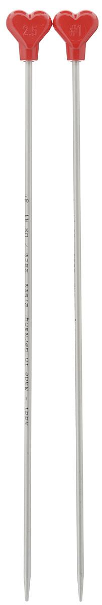 Спицы Addi, металлические, прямые, диаметр 2,5 мм, длина 20 см, 2 шт200-7/2.5-20Спицы для вязания Addi, изготовленные из алюминия, обладают прекрасными тактильными качествами и благородным серебристо-матовым цветом. На кончиках в качестве стопперов есть фирменный логотип Addi в виде сердечка, что придает изделию уникальный вид. Прямые спицы используются при плоском вязании отдельных деталей, которые впоследствии будут сшиты в цельное изделие. Вы сможете вязать для себя и делать подарки друзьям. Рукоделие всегда считалось изысканным, благородным делом. Работа, сделанная своими руками, долго будет радовать вас и ваших близких.