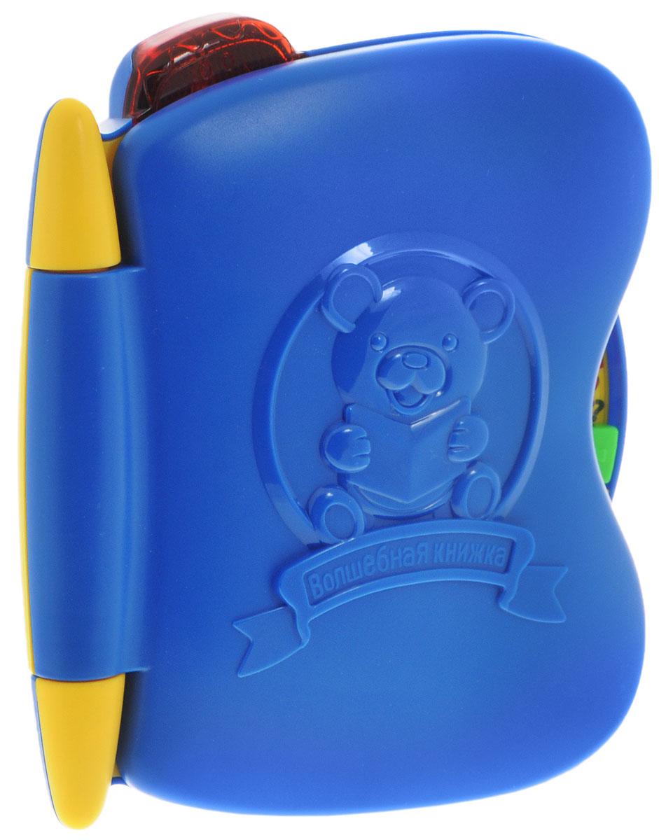 Умка Развивающая игрушка Обучающая книга Винни-Пуха цвет синийA848-H05023RU_синийРазвивающая игрушка Умка Обучающая книга Винни-Пуха специально разработана для ребят, начинающих своё первое знакомство с буквами и цифрами. Ваш ребенок выучит названия и написание букв и цифр, запомнит слова, соответствующие каждой букве, и звуки. Красочные картинки помогут малышу познакомиться с изображением всех предметов и развить ассоциативное восприятие. Режим вопросов поможет проверить полученные знания, а мелодии не дадут скучать. С помощью этой замечательной игрушки ваш малыш научится различать геометрические фигуры и музыкальные ноты. А развить память ему помогут 33 стихотворения про буквы. Имеются световые эффекты. Яркая забавная книга, разговаривающая голосом любимого героя, сделает процесс обучения увлекательным и интересным! Игрушка способствует развитию речи, внимания, памяти, логики, визуального и слухового восприятия. Для работы игрушки необходимы 3 батарейки напряжением 1,5 V типа АА (товар комплектуется демонстрационными).