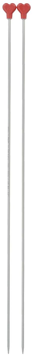 Спицы Addi, металлические, прямые, диаметр 3 мм, длина 40 см, 2 шт200-7/3-40Спицы для вязания Addi, изготовленные из алюминия, обладают прекрасными тактильными качествами и благородным серебристо-матовым цветом. На кончиках в качестве стопперов есть фирменный логотип Addi в виде сердечка, что придает изделию уникальный вид. Прямые спицы используются при плоском вязании отдельных деталей, которые впоследствии будут сшиты в цельное изделие. Вы сможете вязать для себя и делать подарки друзьям. Рукоделие всегда считалось изысканным, благородным делом. Работа, сделанная своими руками, долго будет радовать вас и ваших близких.