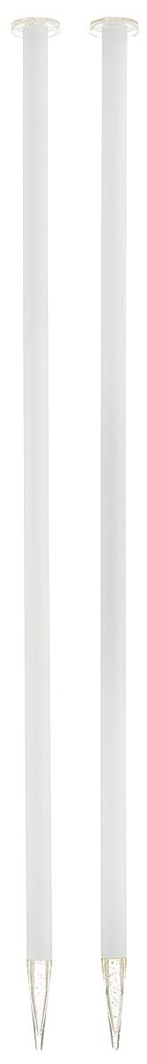 Спицы Addi, пластиковые, прямые, цвет: белый, диаметр 9 мм, длина 35 см, 2 шт400-7/9-35Спицы для вязания Addi, изготовленные из высококачественного пластика, обладают прекрасными тактильными качествами. Они прочные, легкие и удобные в использовании. На кончиках в качестве стопперов есть пластиковые круги с нанесенным на них размером изделия. Прямые спицы используются при плоском вязании отдельных деталей, которые впоследствии будут сшиты в цельное изделие. Вы сможете вязать для себя и делать подарки друзьям. Рукоделие всегда считалось изысканным, благородным делом. Работа, сделанная своими руками, долго будет радовать вас и ваших близких.