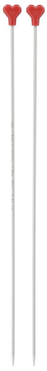 Спицы Addi, металлические, прямые, диаметр 3,25 мм, длина 35 см, 2 шт200-7/3.25-35Спицы для вязания Addi, изготовленные из алюминия, обладают прекрасными тактильными качествами и благородным серебристо-матовым цветом. На кончиках в качестве стопперов есть фирменный логотип Addi в виде сердечка, что придает изделию уникальный вид. Прямые спицы используются при плоском вязании отдельных деталей, которые впоследствии будут сшиты в цельное изделие. Вы сможете вязать для себя и делать подарки друзьям. Рукоделие всегда считалось изысканным, благородным делом. Работа, сделанная своими руками, долго будет радовать вас и ваших близких.