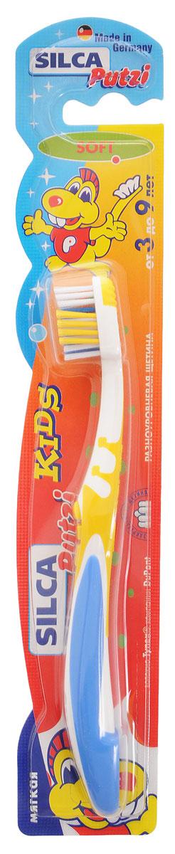 Silca Putzi Зубная щетка Kids от 3 до 9 лет цвет желтый синий