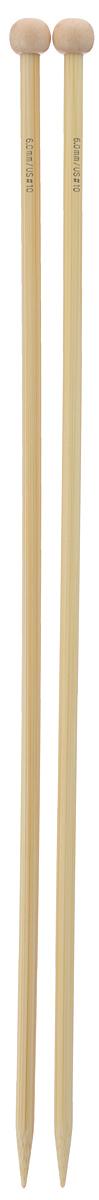 Спицы Addi, бамбуковые, прямые, диаметр 6 мм, длина 35 см, 2 шт500-7/6-035Спицы для вязания Addi изготовлены из бамбука. Поверхность спицы обрабатывается специальным, высокотехнологичным японским воском, который закрывает поры бамбука и делает поверхность абсолютно гладкой. Спицы прочные, легкие, гладкие, удобные в использовании. Ограничители препятствуют соскальзыванию петель. Прямые спицы используются при плоском вязании отдельных деталей, которые впоследствии будут сшиты в цельное изделие. Спицы Addi идеальны для людей с аллергией на металл и их едва слышно при вязании. Вы сможете вязать для себя и делать подарки друзьям. Рукоделие всегда считалось изысканным, благородным делом. Работа, сделанная своими руками, долго будет радовать вас и ваших близких.