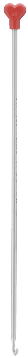 Крючок для вязания Addi Тунисский, металлический, диаметр 5 мм, длина 30 см262-7/5-30Крючок Addi Тунисский выполнен из очень легкого алюминия и идеально подойдет для тунисского вязания. Благодаря этой технике можно получить очень красивые по текстуре, плотные и в то же время мягкие вязаные вещи. Этот крючок длиннее обычного и на конце у него имеется стоппер, который позволяет удерживать петли и не дает им спуститься с крючка. Вязание крючком применяют как для изготовления одежды целиком, так и отделочных элементов одежды или украшений. Вы сможете вязать для себя и делать подарки друзьям. Рукоделие всегда считалось изысканным, благородным делом. Работа, сделанная своими руками, долго будет радовать вас и ваших близких. Подарок, выполненный собственноручно, станет самым ценным для друзей и знакомых.