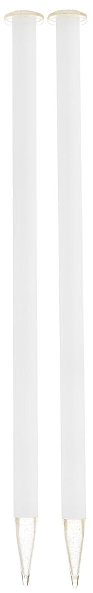 Спицы Addi, пластиковые, прямые, цвет: белый, диаметр 15 мм, длина 35 см, 2 шт400-7/15-35Спицы для вязания Addi, изготовленные из высококачественного пластика, обладают прекрасными тактильными качествами. Они прочные, легкие и удобные в использовании. На кончиках в качестве стопперов есть пластиковые круги с нанесенным на них размером изделия. Прямые спицы используются при плоском вязании отдельных деталей, которые впоследствии будут сшиты в цельное изделие. Вы сможете вязать для себя и делать подарки друзьям. Рукоделие всегда считалось изысканным, благородным делом. Работа, сделанная своими руками, долго будет радовать вас и ваших близких.