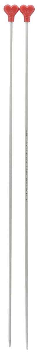 Спицы Addi, металлические, прямые, диаметр 3,25 мм, длина 40 см, 2 шт200-7/3.25-40Спицы для вязания Addi, изготовленные из алюминия, обладают прекрасными тактильными качествами и благородным серебристо-матовым цветом. На кончиках в качестве стопперов есть фирменный логотип Addi в виде сердечка, что придает изделию уникальный вид. Прямые спицы используются при плоском вязании отдельных деталей, которые впоследствии будут сшиты в цельное изделие. Вы сможете вязать для себя и делать подарки друзьям. Рукоделие всегда считалось изысканным, благородным делом. Работа, сделанная своими руками, долго будет радовать вас и ваших близких.