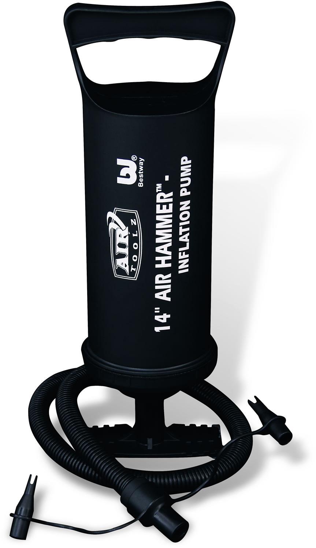 Bestway Насос ручной, 36 см. 6200362003Ручной насос Bestway предназначен для накачивания различных резиновых предметов. Изделие оснащено объемной воздушной камерой для быстрого надувания. Работает благодаря поднятию и опусканию поршня. Конструкция обеспечивает максимальный воздушный поток. Насос оснащен гибким шлангом с 3 переходниками, подходящими практически для любого клапана. Объем воздуха: 2 х 910 см3.