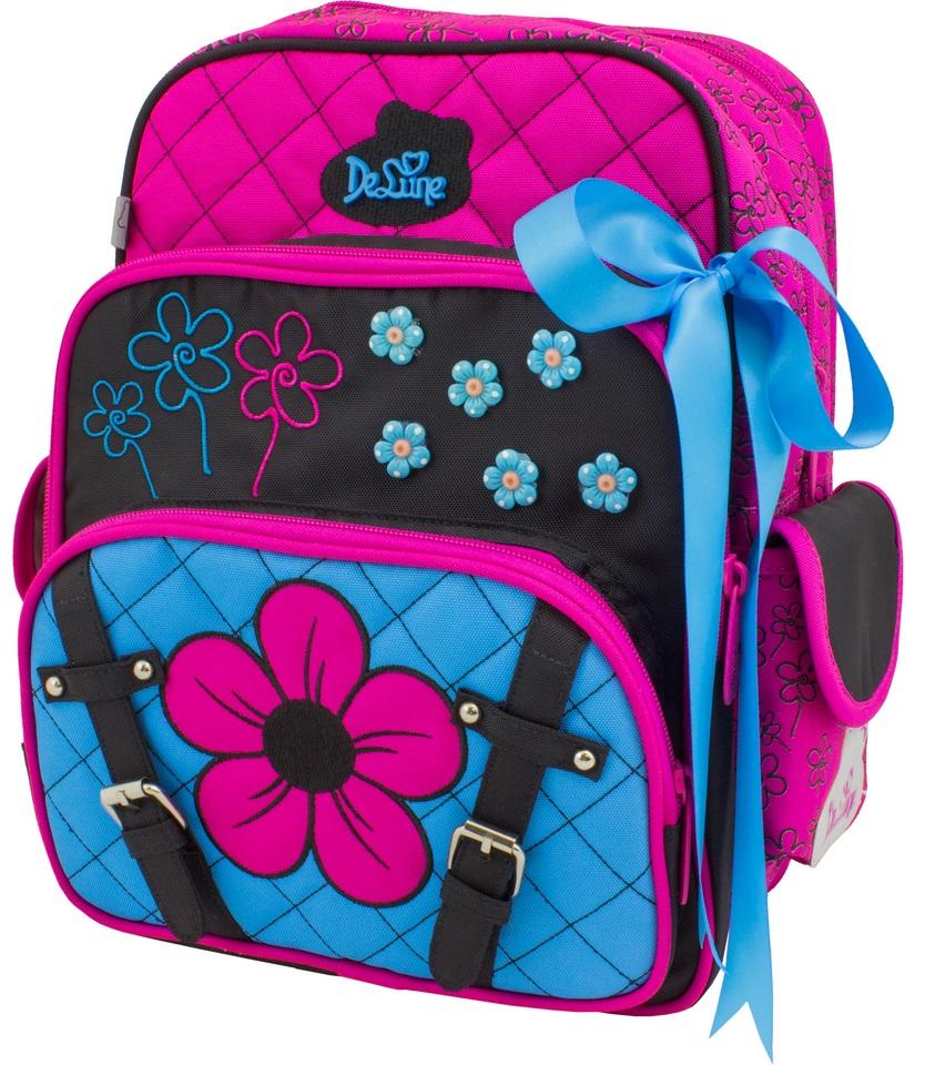 DeLune Рюкзак детский с наполнением цвет розовый голубой 2 предмета55-02Детский рюкзак DeLune Danger Shark имеет мягко-каркасную форму, которая позволяет держать форму даже при полностью пустом рюкзаке, не прогибается и не меняется под весом. Проработанные детали, украшения и аппликации, яркие ткани - все для того, чтобы сохранить для детей ощущения сказки и волшебства и окунуть их в мир чудес, а благодаря качественному, легкому и прочному материалу рюкзак долговечен в носке, а множество отделений поможет разместить все необходимые вещи школьника. Рюкзак имеет два основных отделения. В центральном отделении находятся два пластиковых разделителя с сетчатыми карманами, на противоположной стороне - большое сетчатое отделение на резинке. Дно рюкзака можно сделать более устойчивым, разложив специальную панель. Во втором отделении карманов нет. Внутреннее оснащение рюкзака разработано по специальной системе распределении вещей Open access, что позволяет удобно распределить школьные принадлежности ребенка. На передней...