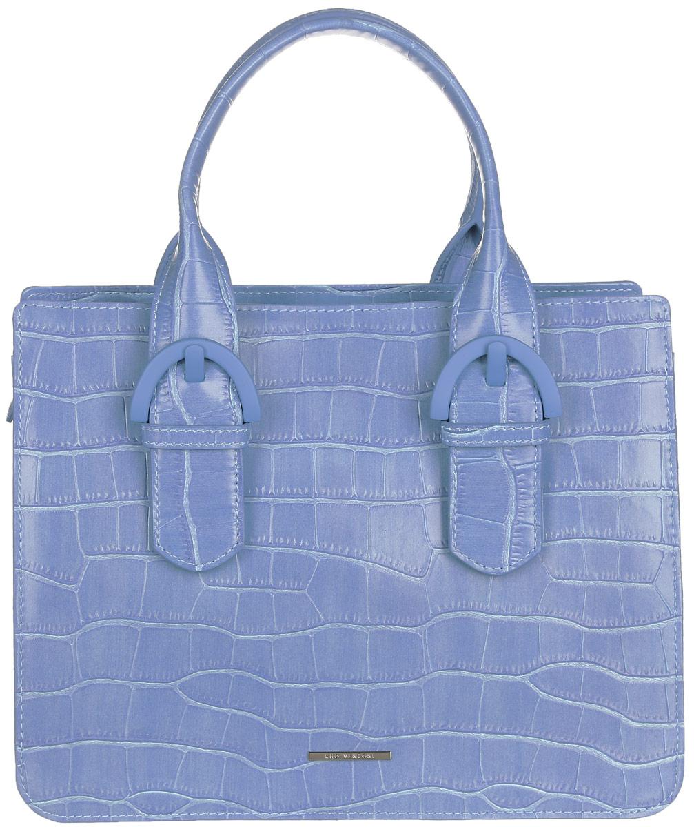Сумка женская Leo Ventoni, цвет: сине-голубой. 2300441523004415-blue coccoСтильная женская сумка Leo Ventoni выполнена из натуральной кожи с фактурным тиснением под кожу рептилии. Изделие содержит одно вместительное отделение, которое закрывается на застежку-молнию. Внутри расположены два накладных кармашка для мелочей и врезной карман на молнии. Снаружи, на задней стороне сумки, расположен врезной карман на застежке-молнии. Сумка оснащена двумя практичными ручками и съемным плечевым ремнем. Оригинальный аксессуар позволит вам завершить образ и быть неотразимой.