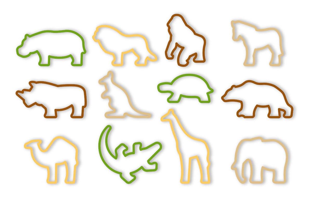 Формочки Tescoma Delicia Kids. Zoo, 12 шт630930