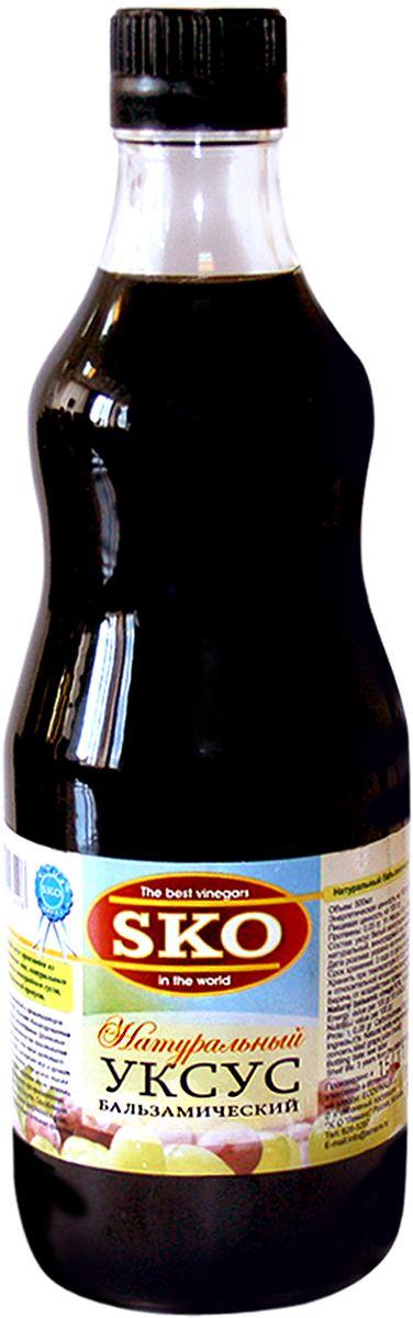 Бальзамический 6% уксус произведен из натуральных испанских вин, натурального виноградного сока и виноградного сусла, 100% натуральный продукт. Не содержит искусственных красителей и ароматизаторов. Бальзамический уксус «SKO»™обладает сбалансированным кисло-сладким вкусом, неповторимым фруктовым ароматом и может применяться для приготовления разнообразных блюд. Всего одна капля настоящего бальзамического уксуса «SKO»™ подчеркнет вкус и аромат изысканных десертов и фруктов. Уксус можно также подавать с сыром, овощами, жареным мясом, печенью, рыбой, курицей и использовать при приготовлении маринадов, добавлять в соусы и супы. Способствует пищеварению, снижает уровень холестерина в крови, имеет мягкий вкус, улучшает общее состояние организма. Бальзамический уксус – это один из замечательнейших продуктов, который великие повара мира используют для придания вкуса и различных ароматов блюдам и для их оригинального и элегантного декорирования.