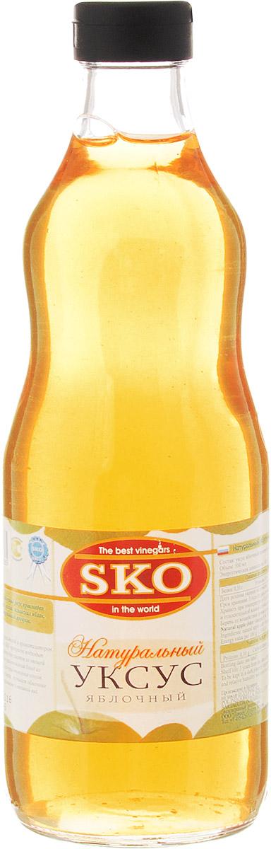 SKO уксус натуральный яблочный, 500 мл13009Натуральный яблочный уксус произведен из натуральных зеленых испанских яблок. 100% натуральный продукт. Без искусственных красителей и ароматизаторов. Яблочный уксус SKO прекрасно подходит в качестве заправки для салатов из овощей и фруктов, для приготовления блюд из мяса и птицы, для приготовления соусов. Обогащает вкус блюда, улучшает обменные процессы в организме и внешний вид.