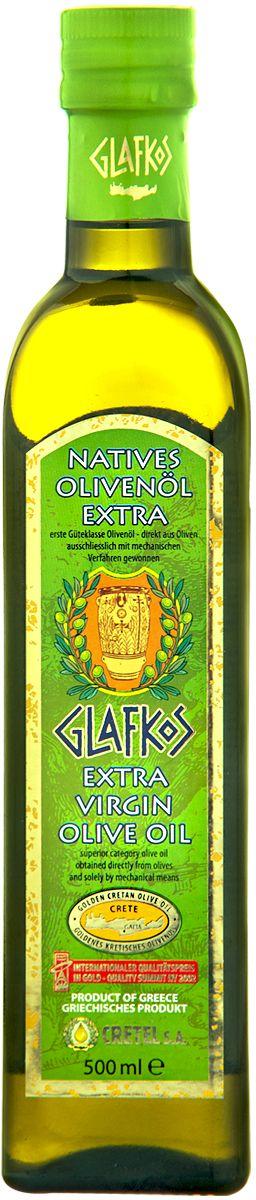 Glafkos Extra Virgin масло оливковое экстра класса, 0,5 л (ст/б)