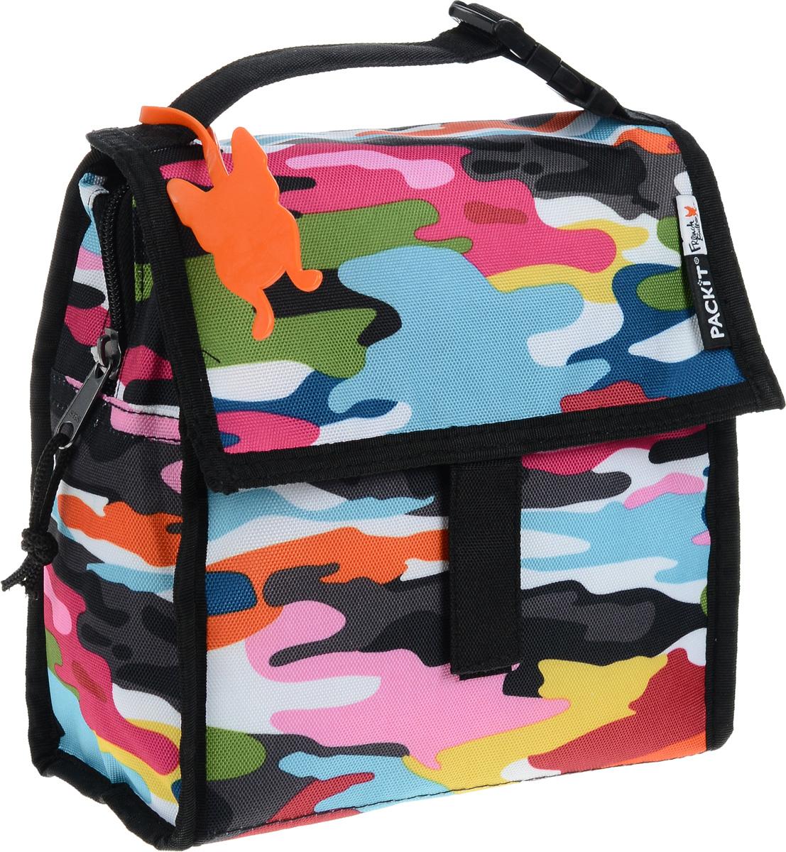 Сумка-холодильник Packit Lunch Bag, цвет: черный, розовый, голубой, 1,9 лPackit0011Сумка-холодильник Packit Lunch Bag предназначена для транспортировки и хранения продуктов и напитков. Охлаждает продукты как холодильник. Сумка изготовлена из ПВХ, BPA-Free (без содержания бисфенол А), внутренняя поверхность - из специального термоизоляционного материала, который надежно удерживает холод внутри. Для удобной переноски сумка снабжена ручкой с пластиковой защелкой. Сумка-холодильник закрывается на застежку-молнию, клапаном и фиксируется липучками. Сохраняет температуру до 10 часов. Размер сумки (в разложенном виде): 20 х 10,5 х 20 см. Размер сумки (в сложенном виде): 20 х 2 х 20 см.
