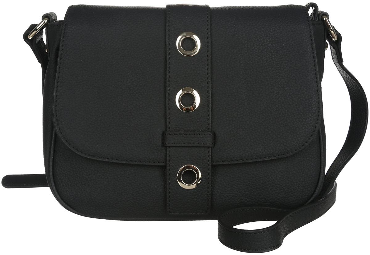 Сумка женская Fabretti, цвет: черный. N2538N2538-blackСтильная женская сумка Fabretti выполнена из натуральной кожи с фактурным тиснением. Изделие содержит одно вместительное отделение, которое закрывается клапаном на магнитную застежку и дополнительно на застежку-молнию. Внутри расположен один накладной кармашек для мелочей, карман-средник на застежке-молнии и один врезной карман на молнии. Снаружи, на задней стороне сумки, расположен врезной карман на застежке-молнии. Сумка оснащена удобным плечевым ремнем, который можно регулировать по длине. Оригинальный аксессуар позволит вам завершить образ и быть неотразимой.