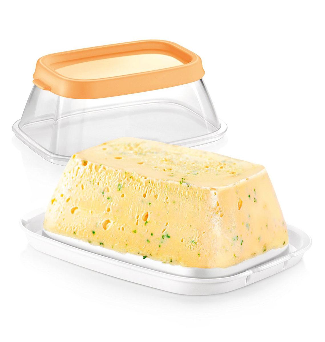 Масленка Tescoma DELLA CASA. 643142643142Отлично подходит для хранения и сервировки 200 г сливочного масла. Шероховатое дно для удобной нарезки – масло не скользит.Сделано из превосходного силикона и прочной пластмассы. Можно мыть в посудомоечной машине. Инструкция по применению прилагается.