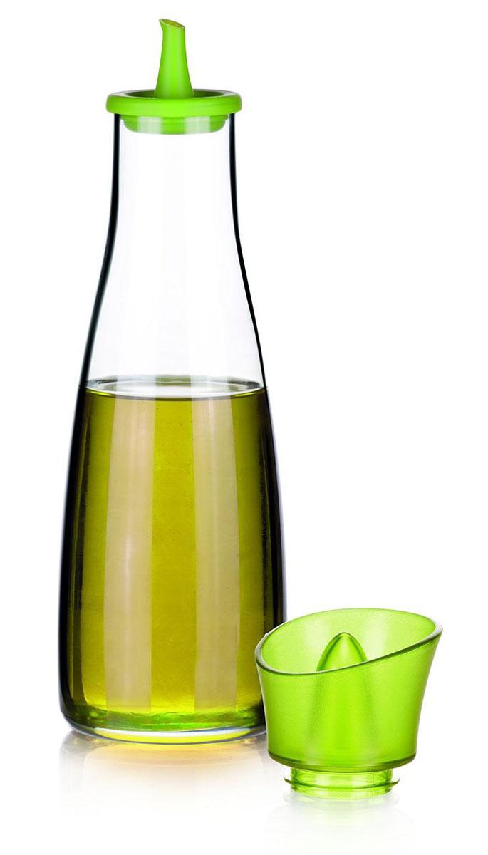 Емкость для масла Tescoma Vitamino, цвет: салатовый, прозрачный, 500 мл642773Емкость для масла Tescoma Vitamino, выполненная из высококачественного боросиликатного стекла, позволит украсить любую кухню. Она внесет разнообразие как в строгий классический стиль, так и в современный кухонный интерьер. Легка в использовании, стоит только перевернуть, и вы с легкостью сможете добавить масло. Изделие оснащено воронкой из силикона и крышкой из прочной пластмассы. Оригинальная емкость будет отлично смотреться на вашей кухне. Изделие пригодно для мытья в посудомоечной машине. Высота емкости (с учетом крышки): 25 см.