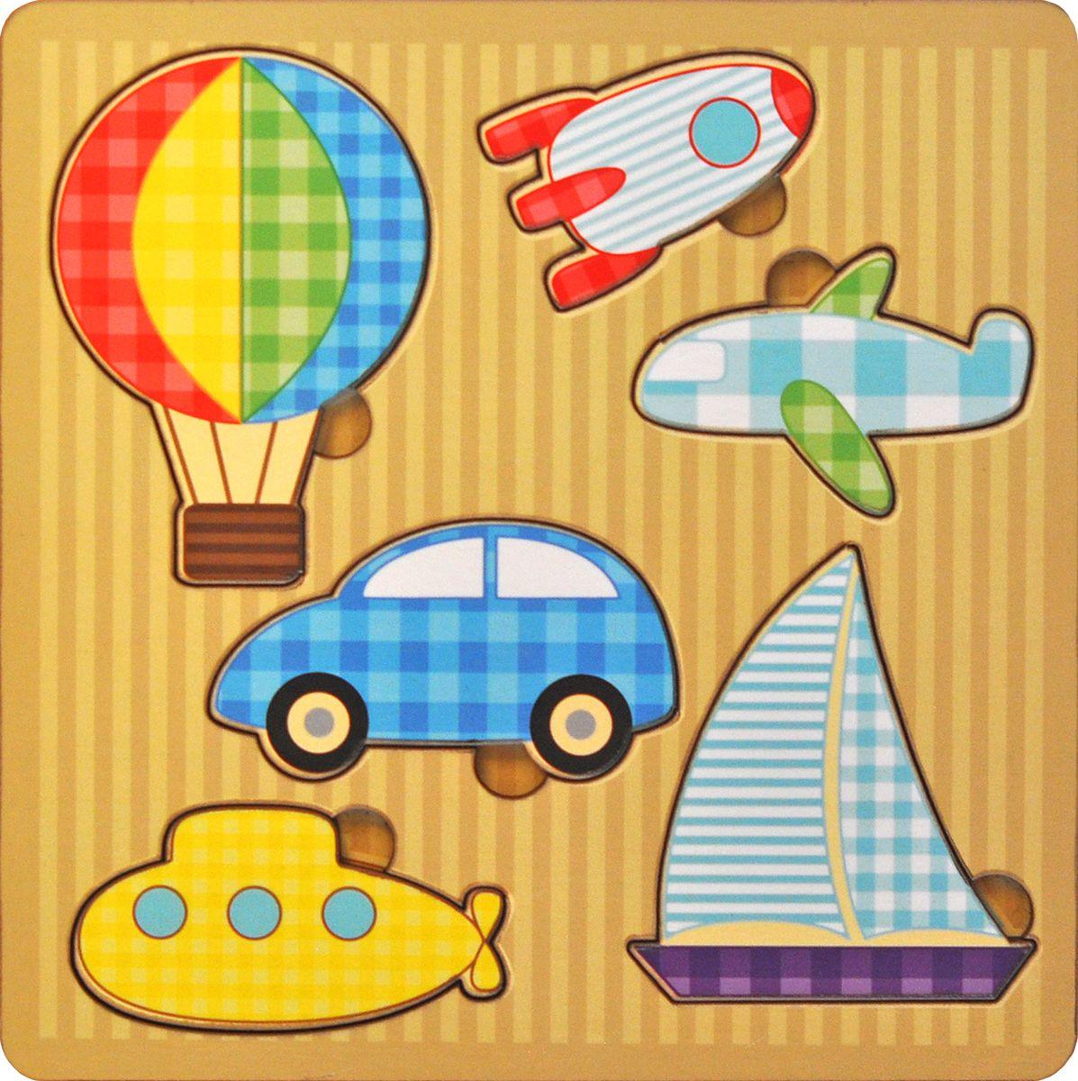 Фабрика Мастер игрушек Пазл для малышей От воды до космосаIG0038Чудесная рамка-вкладыш станет первым пазлом для Вашего ребенка. Эта простая, но увлекательная игрушка обязательно привлечет внимание малыша. Картинки такие интересные и яркие. Задача игры заключается в следующем. Надо разложить деревянные фигурки по своим местам, в специальные углубления - дощечки.