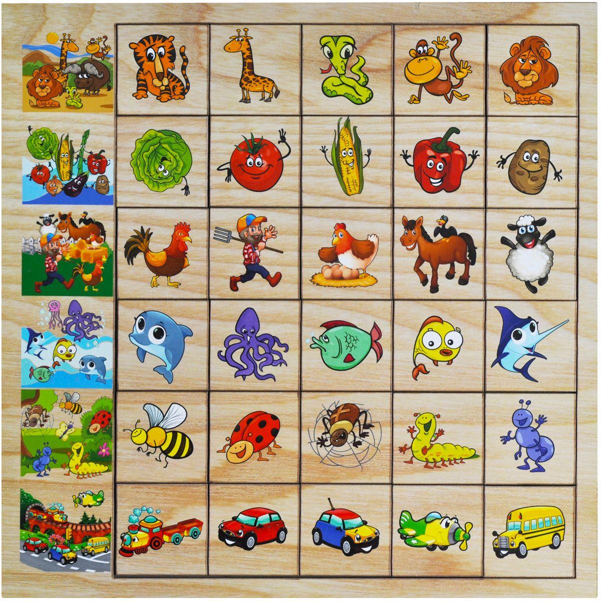 Фабрика Мастер игрушек Обучающая игра АссоциацииIG0051Развивающая игра, которая поможет Вашему ребенку выстроить ассоциативный ряд.
