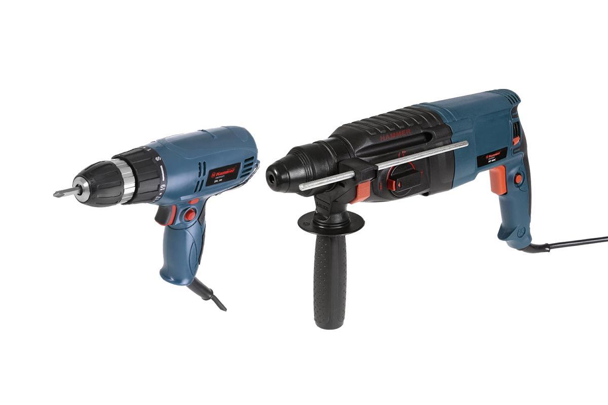 Набор Hammer: перфоратор PRT800С, сетевой шуруповерт DRL300 ( 174612 )