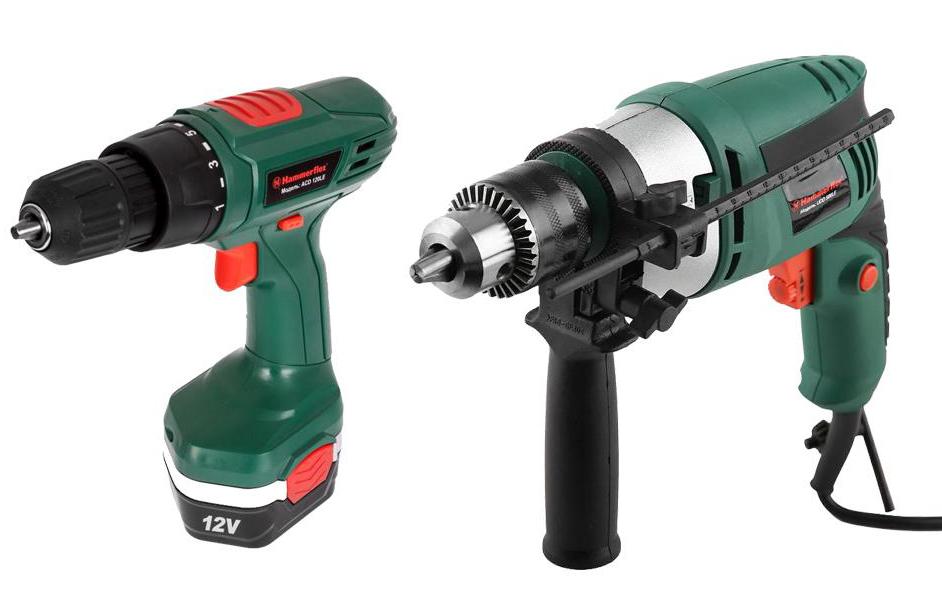 Набор Hammer: аккумуляторная дрель Flex ACD120LE, дрель ударная Flex UDD500LE293396Аккумуляторная дрель Hammer Flex ACD120LE + Дрель ударная Hammer Flex UDD500LE Аккумуляторная дрель Hammer Flex ACD120LE: Обладает отличной эргономикой и балансировкой инструмента. 16 позиций ограничения крутящего момента, позволяют произвести точную настройку шуруповерта под используемый крепеж и материал. Двухзамковое крепление аккумулятора, повышает надежность его фиксации и увеличивает жесткость конструкции всего инструмента. Комплектация: Акк.дрель Аккумулятор Зарядное устройство Инструкция Коробка + Дрель ударная Hammer Flex UDD500LE : Модель оснащена ключевым патроном, что увеличивает надежность крепления оснастки в патроне (особенно при бурении), а, следовательно, гарантирует безопасность. В зависимости от плотности материала, регулировка скорости вращения позволяет начать работу на малых оборотах (т.е. медленном сверлении), а в дальнейшем, при необходимости, увеличивать частоту вращения для...