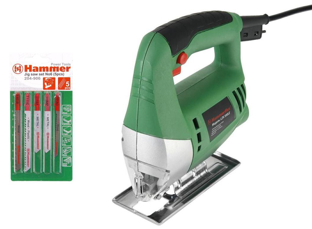 Набор Hammer: лобзик Flex LZK500LE 350Вт, набор пилок Flex set No6